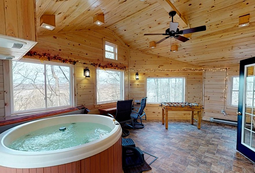 New Indoor Hot Tub  Game Room