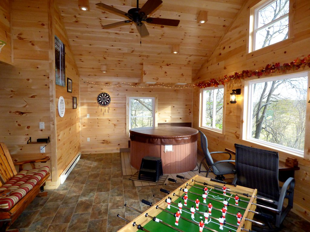 Brand New Indoor Hot Tub/Game Room