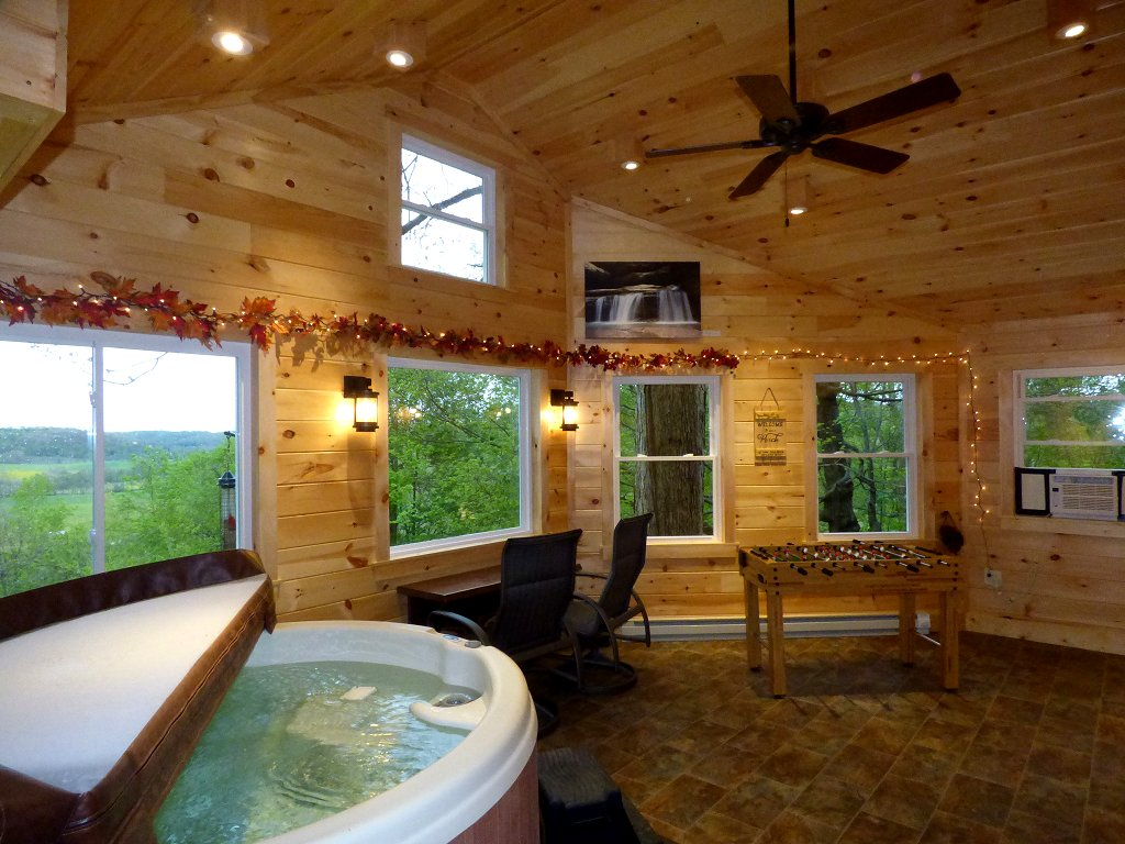 Take a relaxing soak in the Hot Tub