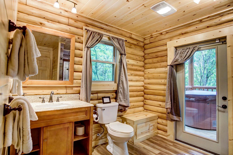 Treehouse Bathroom - Bathroom with large walk-in shower