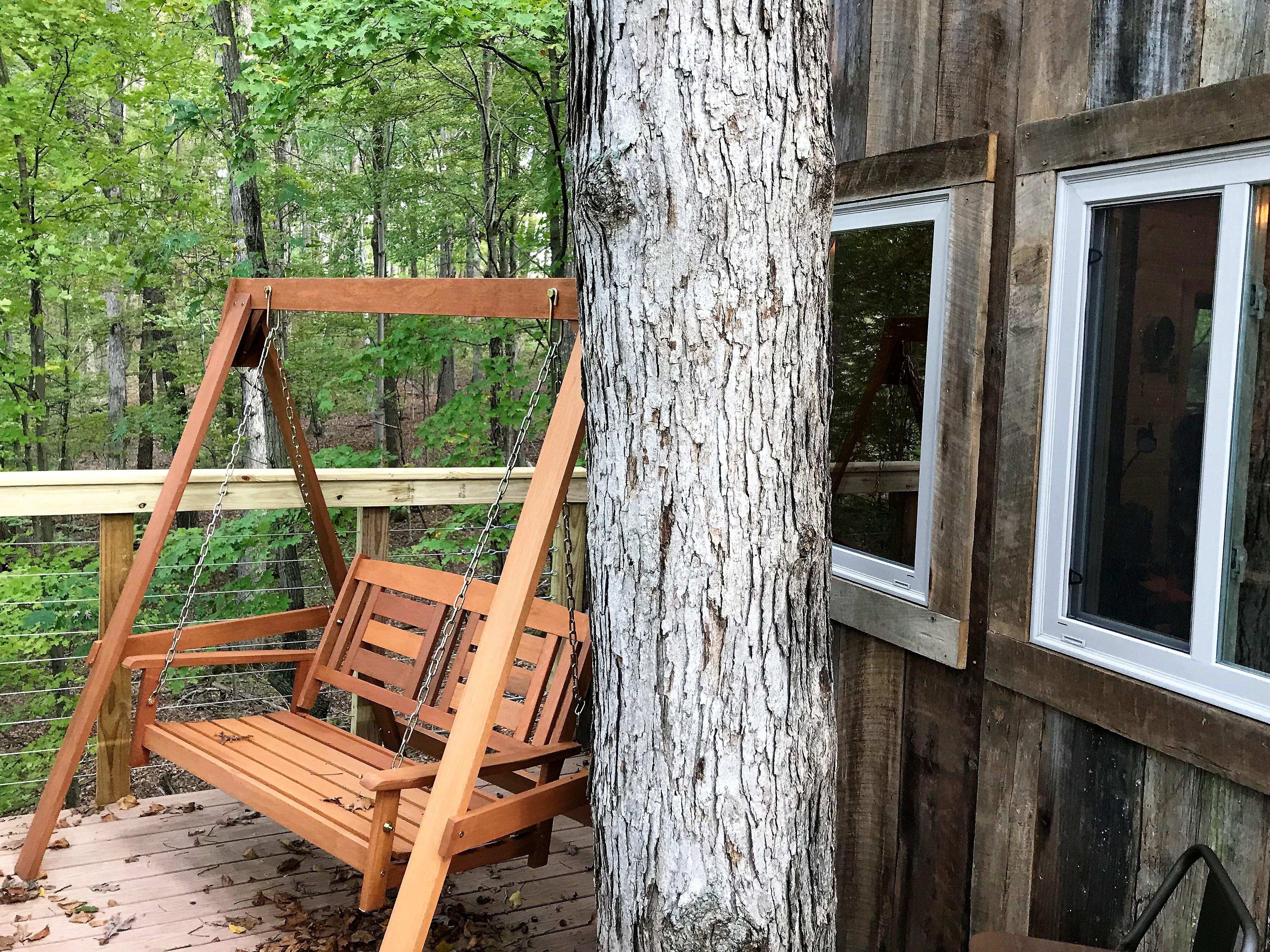 swing - enjoy the swing on the back deck