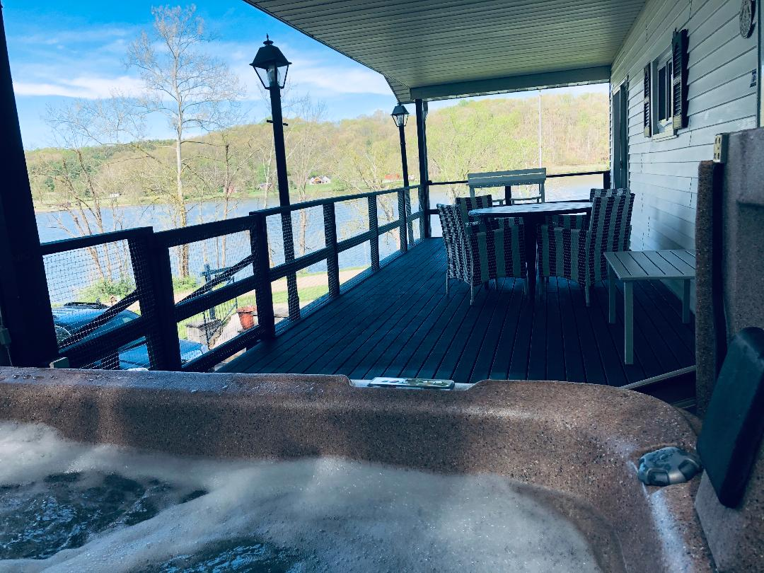 View of lake from the hot tub