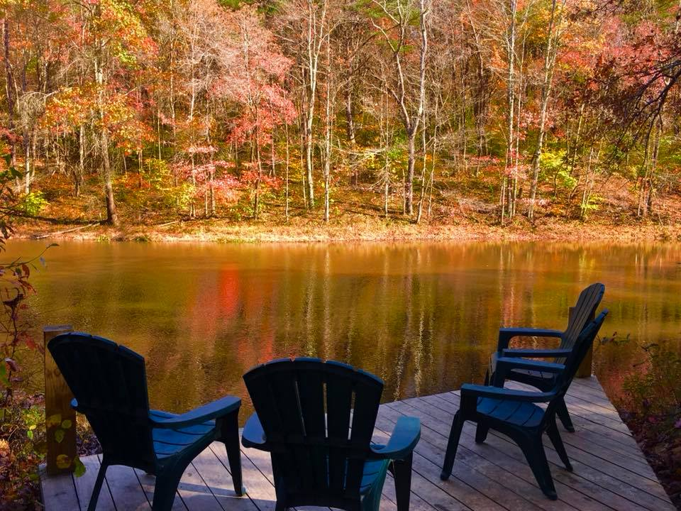 Dock at Hidden Lake - Abundant colors and wonderful fishing/birding from right here.