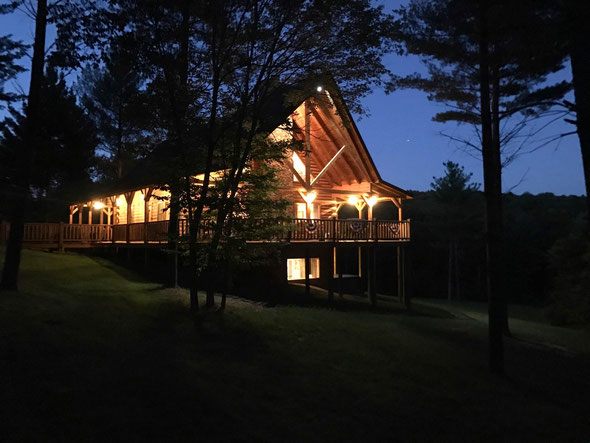 Hidden Lake Lodge at Dusk - Opened in 2015!