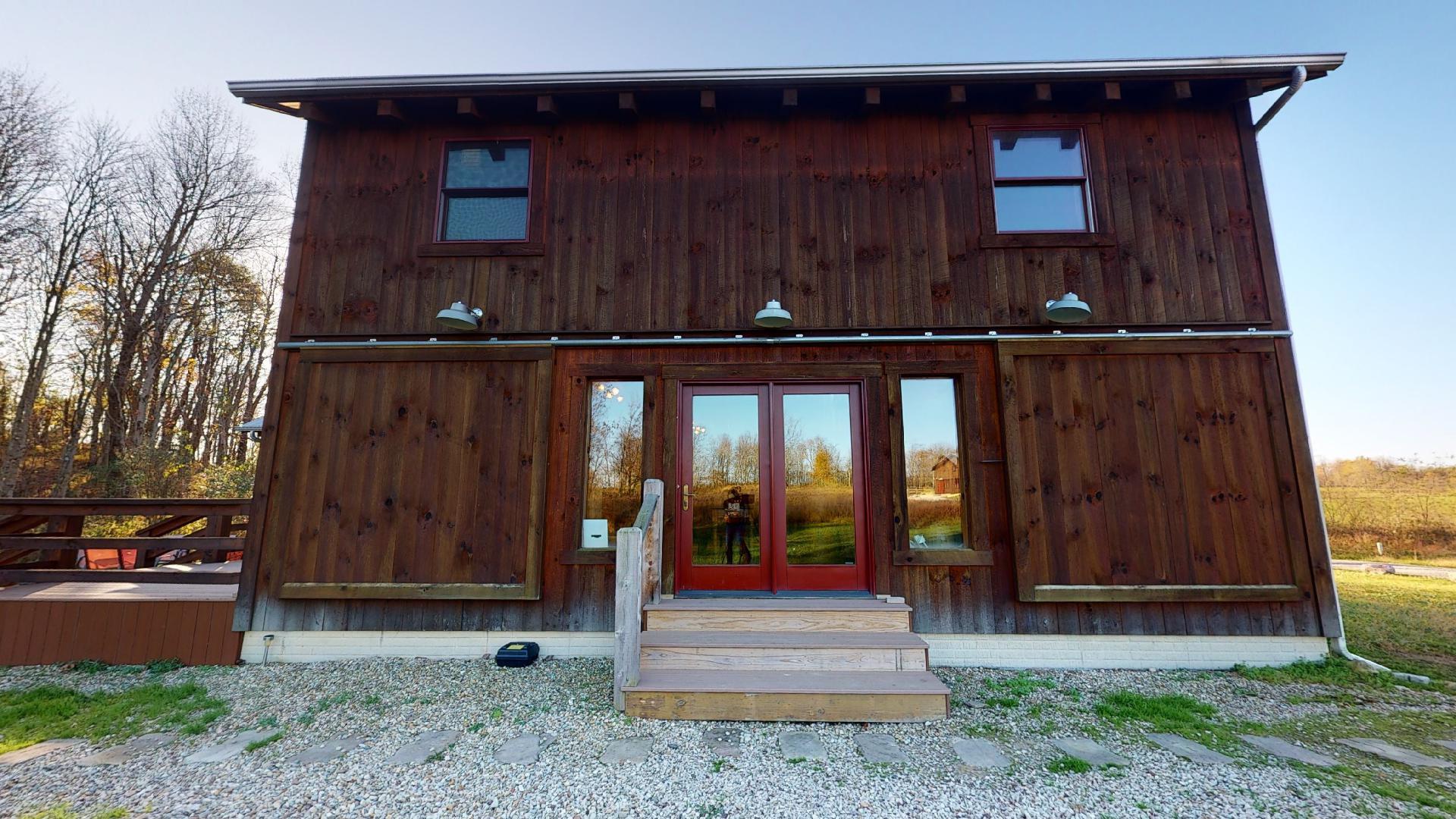 Photo 2006_9036.jpg - Front door of the Barn at Pumpkin Ridge Resort. Lodging Structure 1