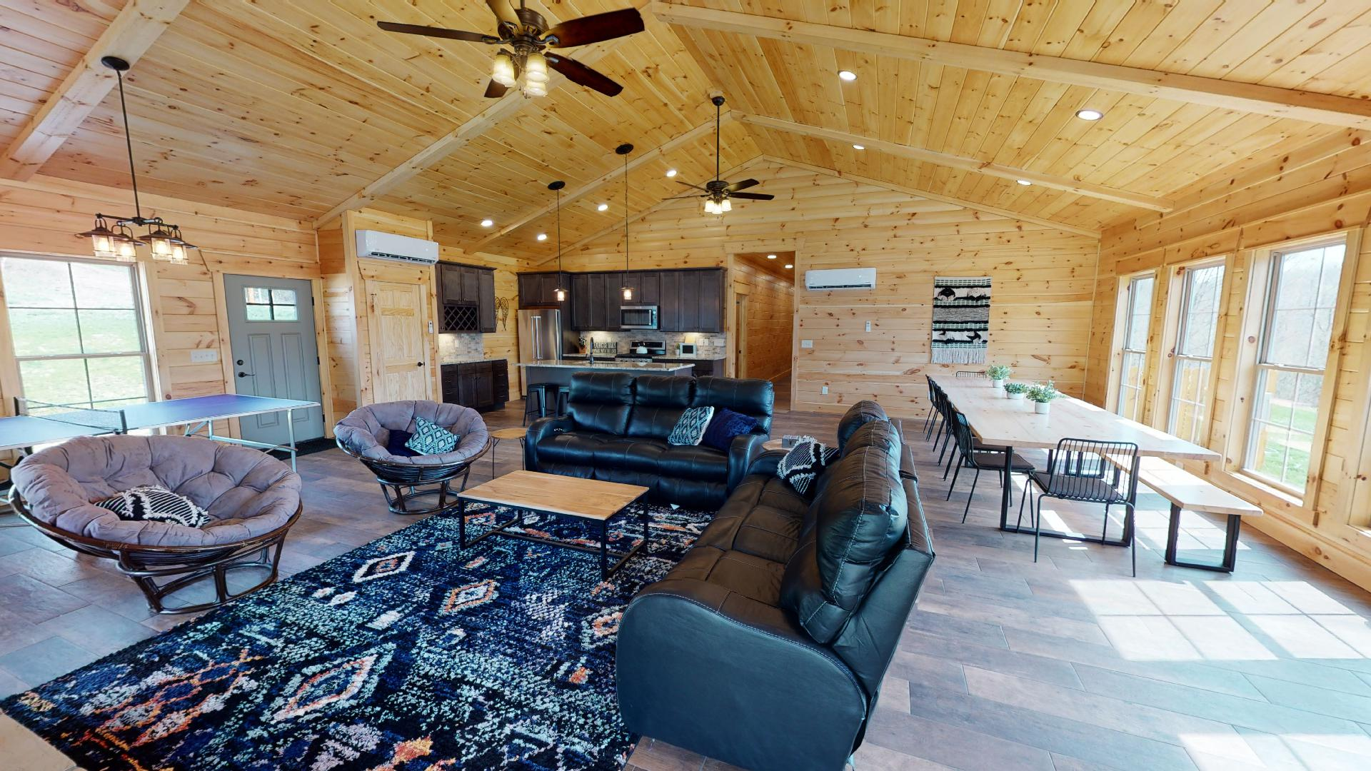 Revive Ridge - View from sliding glass doors into lodge.