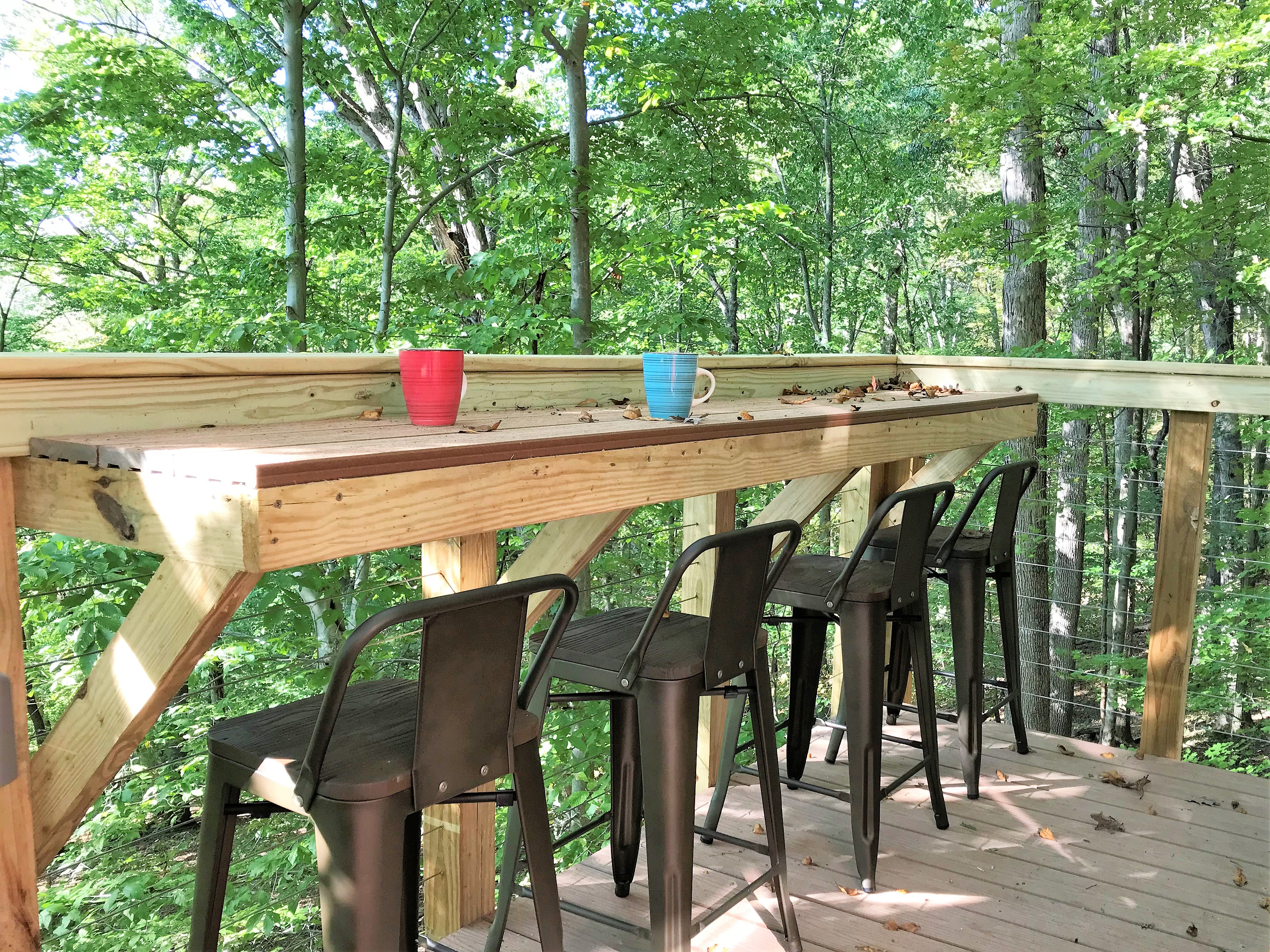 back deck - enjoy your meals with a view