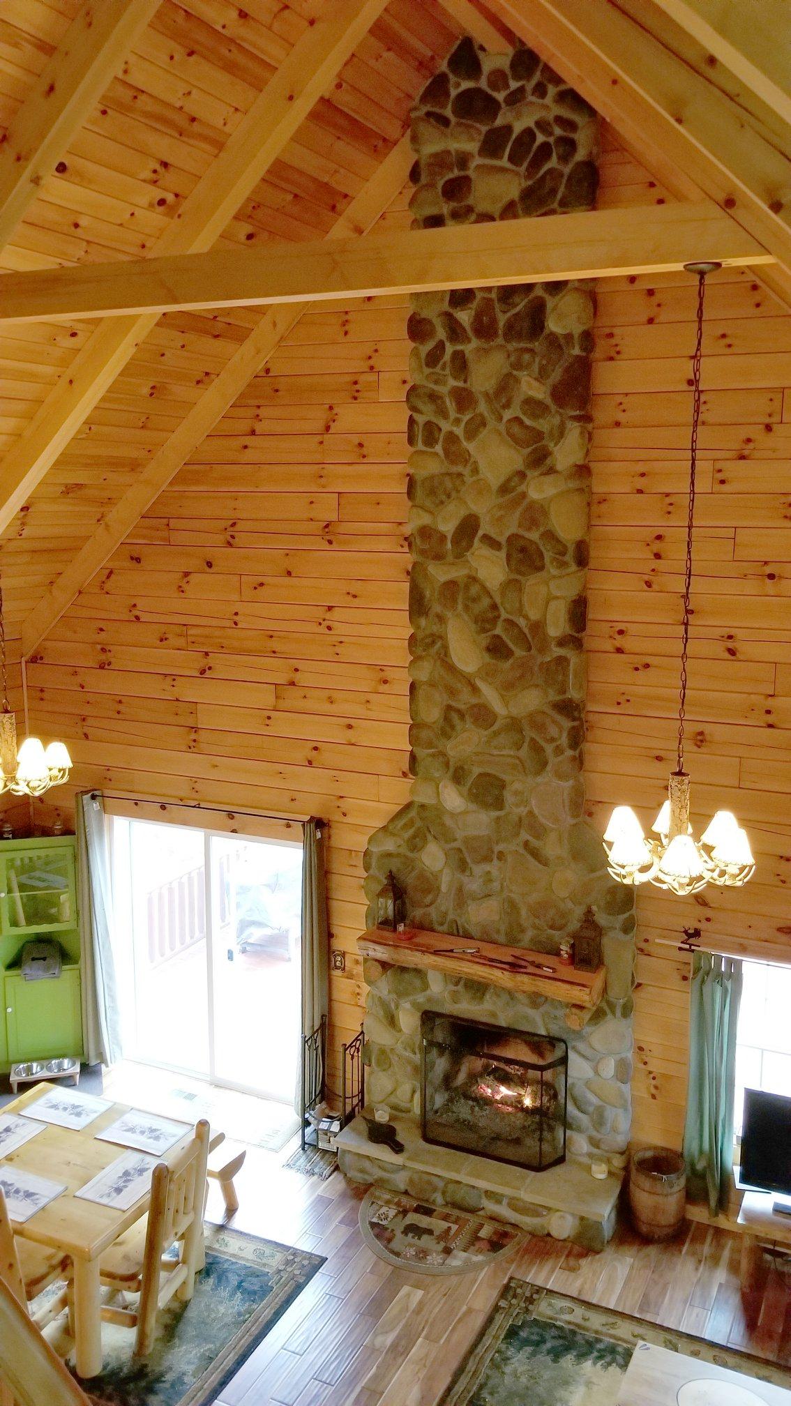 Fireplace - Cozy woodburning fireplace