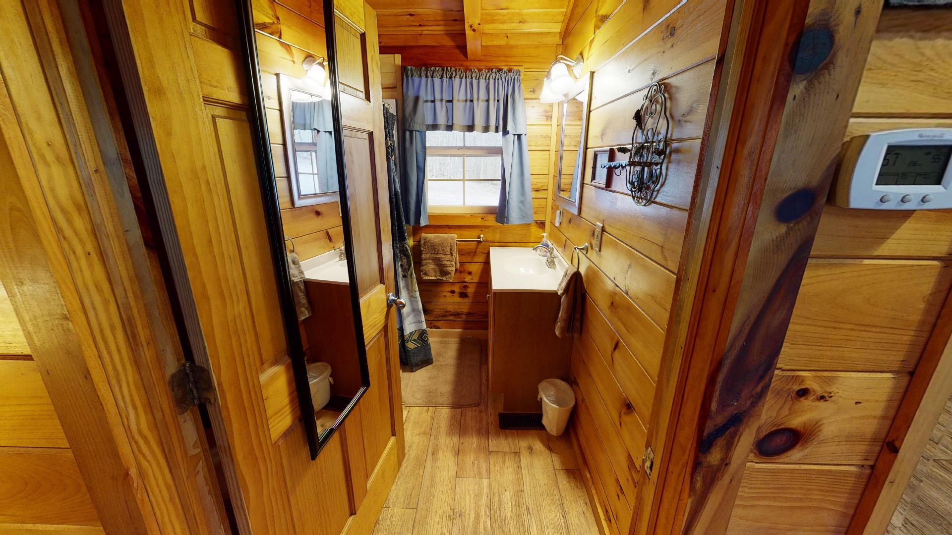 Silver Wolf Bathroom - Private bathroom with walk in shower.