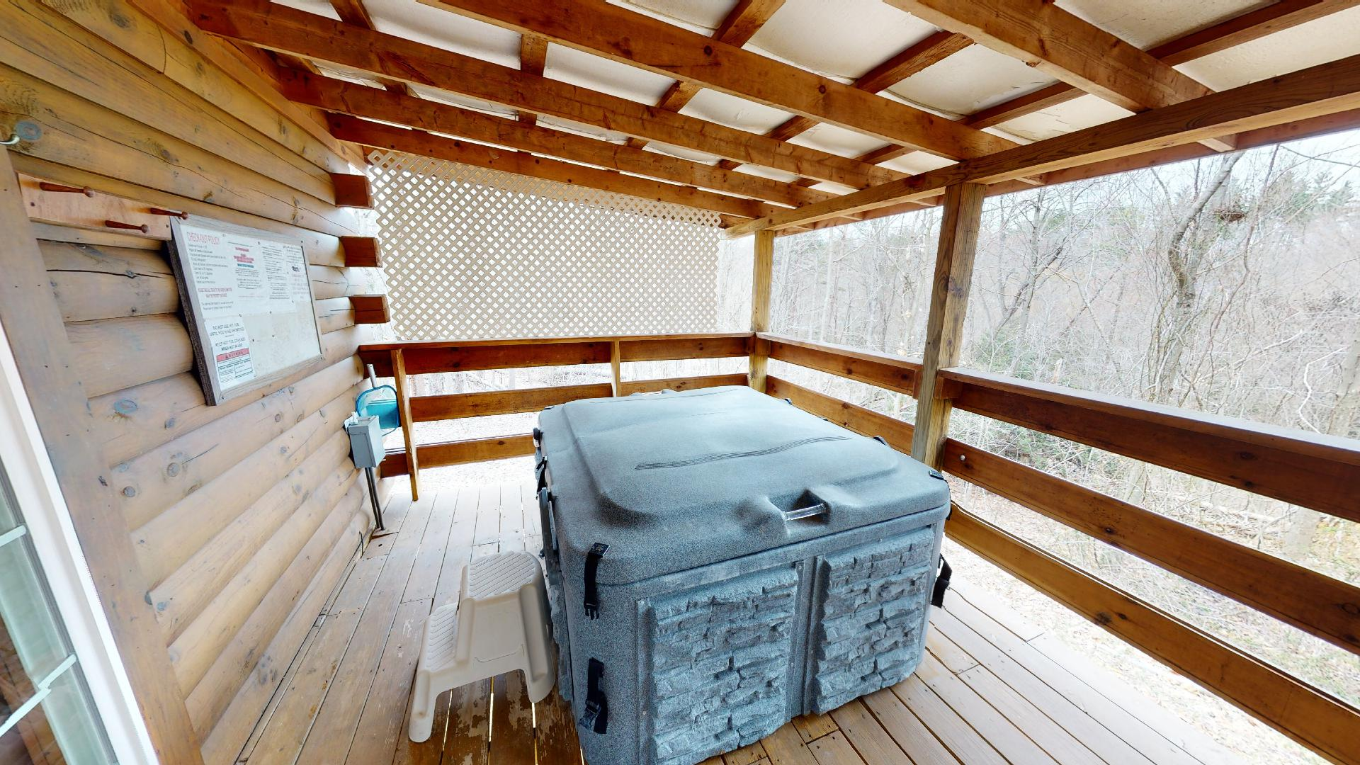Photo 663_9189.jpg - Private, 2 person hot tub on the back deck.