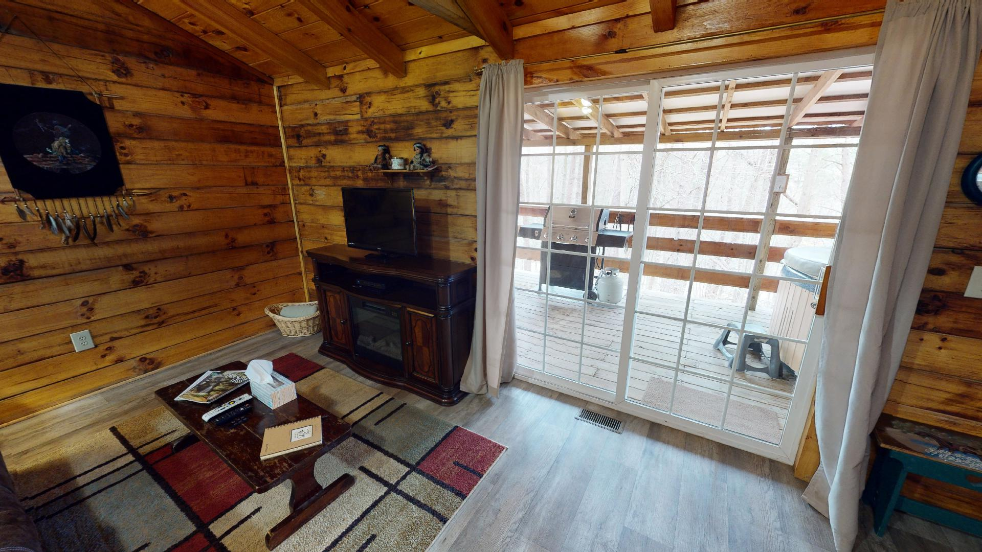 The Lakota View - View to covered back deck.