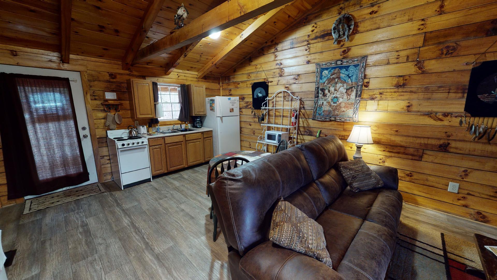 The Lakota Living - Living and kitchen view.