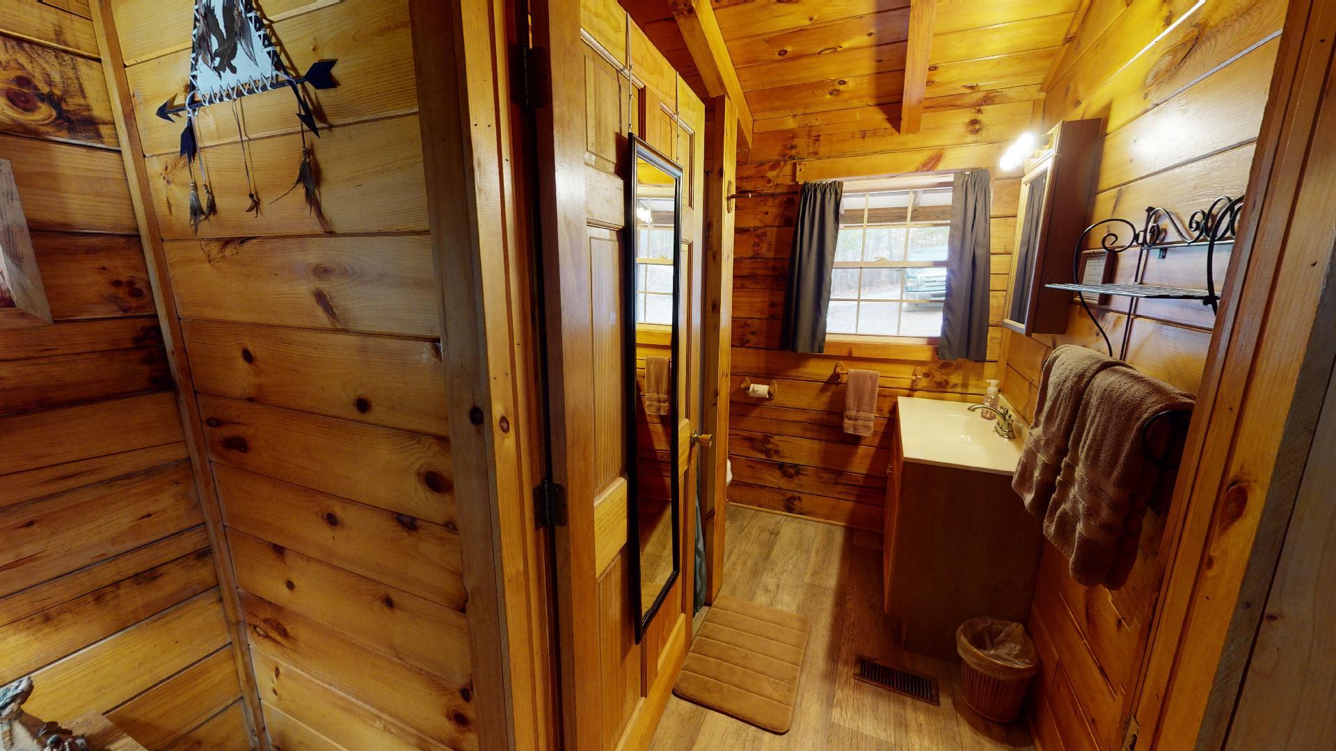 The Lakota Bathroom - Private bathroom with walk in shower.