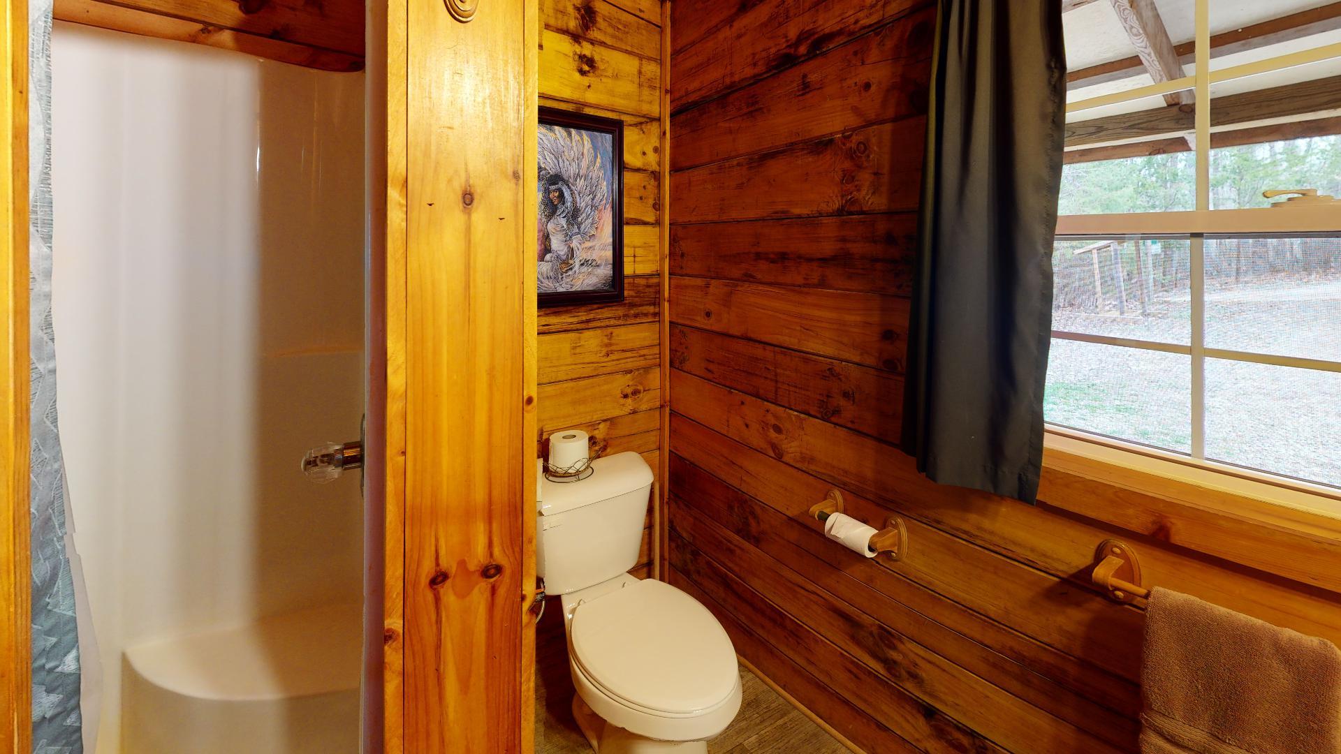 The Lakota - Walk in shower and bathroom view.