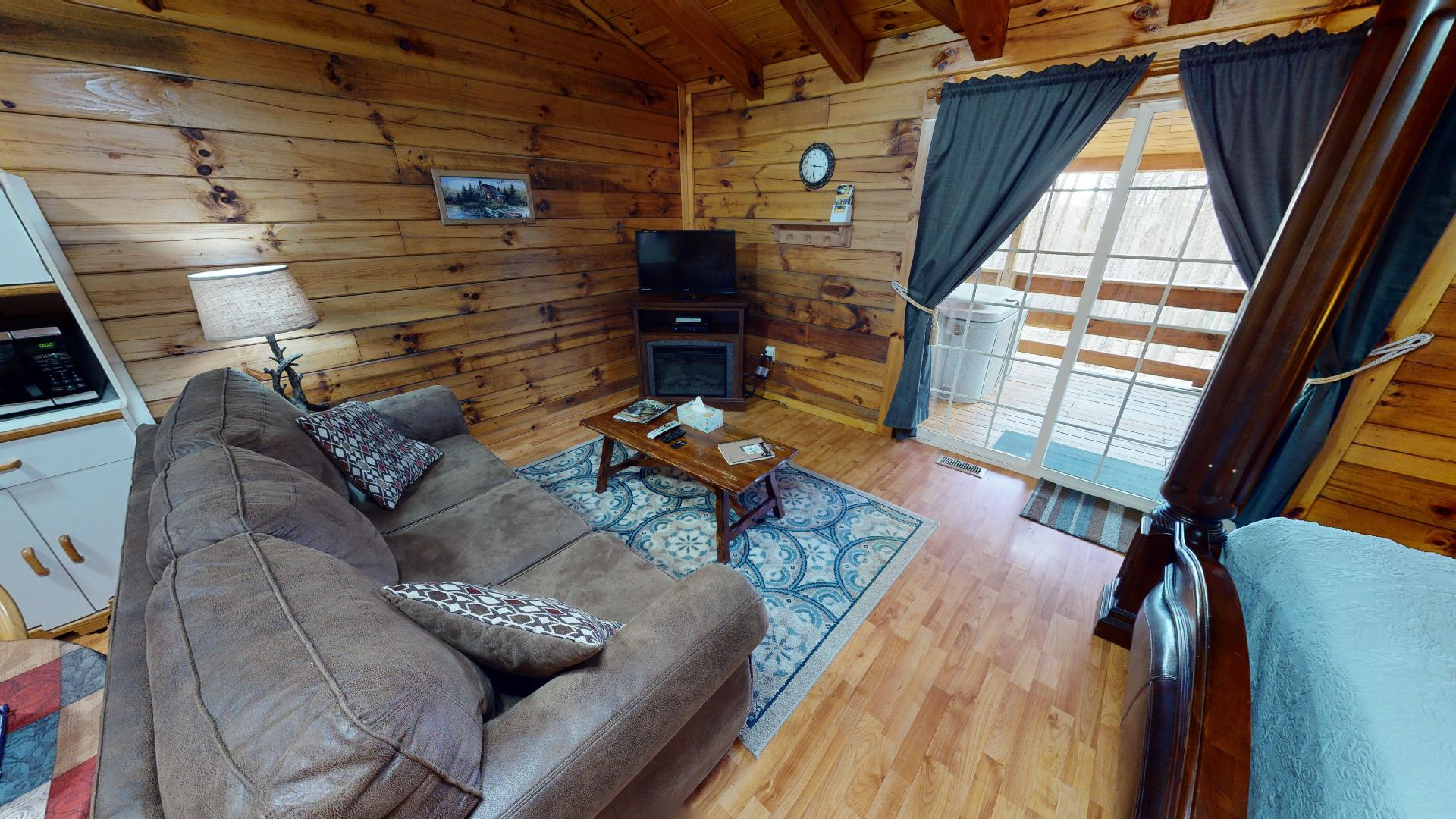 The Landing - Living area/bed.